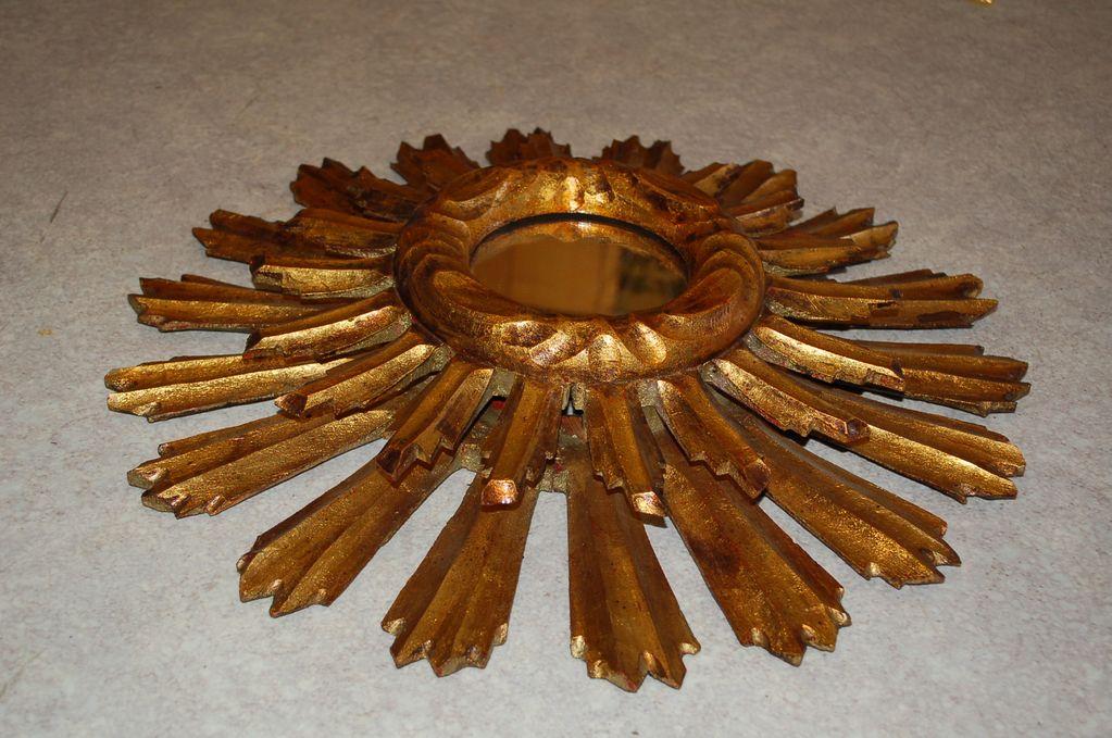 Miroir soleil en bois design Italien